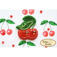 Bead Art Brooch Kit - Cherries