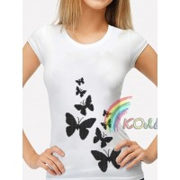 Bead Art T-Shirt Kit - Black Butterflies