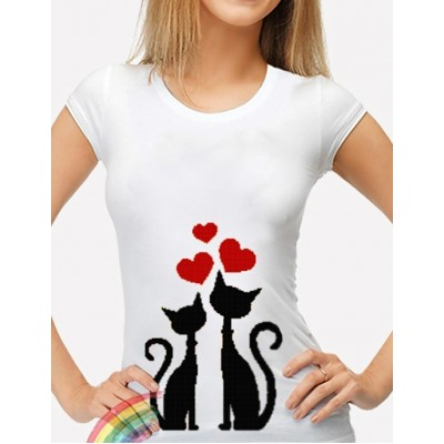 Bead Art T-Shirt Kit - Cats
