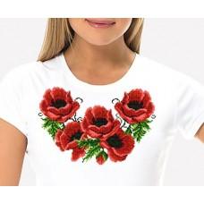Bead Art T-Shirt Kit - Poppies