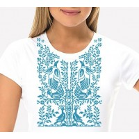 Bead Art T-Shirt Kit - Abstract Blue Birds