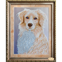 Bead Art Kit - Golden Retriever