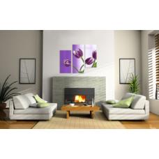 Bead Art Kit - Tulip Flower Triptych