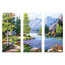 Bead Art Kit - Lakeside Cottage Triptych