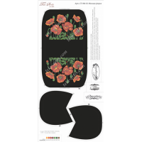 Bead Art Kit - Poppies on Black Purse