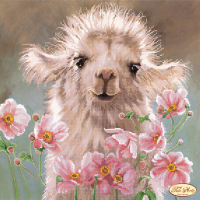 Bead Art Kit - Llama & Flowers