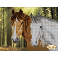 Bead Art Kit - Forest Horses