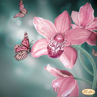 Bead Art Kit - Flowers & Butterflies (Miss Elegance)