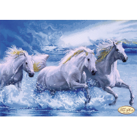 Bead Art Kit - Horses in the Surf