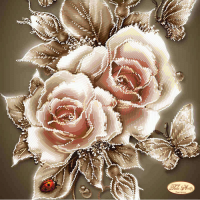 Bead Art Kit - Caramel Rose