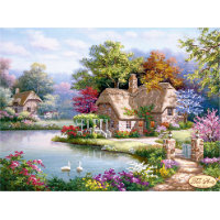 Bead Art Kit - Lakeside Cottage