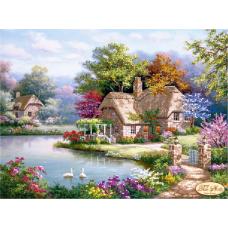 Bead Art Kit - Lakeside Cottage