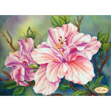 Bead Art Kit - Pink Lillies