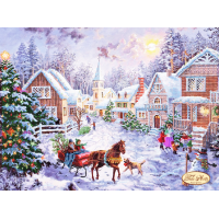 Bead Art Kit - Winter Village