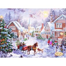 Bead Art Kit - Winter Village