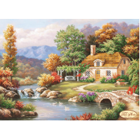 Bead Art Kit - Autumn Charm (Cottage by Stream)
