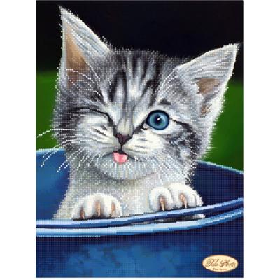 Bead Art Kit - Winking Kitten