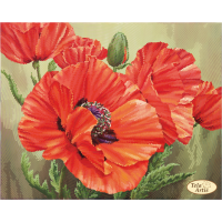 Bead Art Kit - Scarlet Poppies