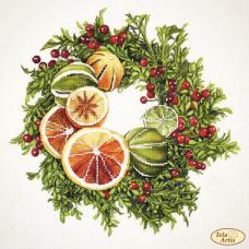 Bead Art Kit - Grapefruit Wreath
