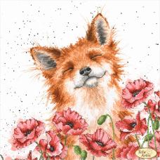 Bead Art Kit - Fox in Poppies