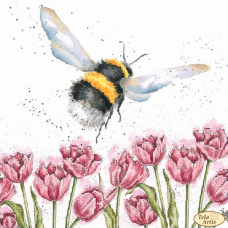 Bead Art Kit - Bumblebee in the Tulips