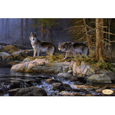 Bead Art Kit - Wolves (By The River)