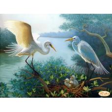 Bead Art Kit - Cranes (Happy Couple)