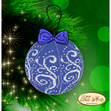 Bead Art Bauble Kit - Blue Hoarfrost