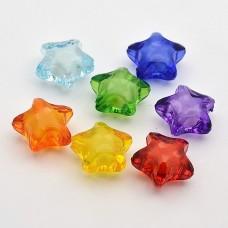 20mm Acrylic Star Beads