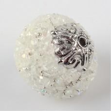 Indonesia Bead Round - White