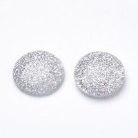 Glitter Cabochons - Silver Tone
