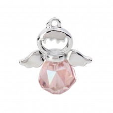 Angel Charm with Hair Detail - Pink