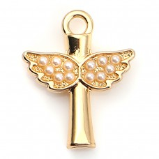 Angel Wing with Imitation Pearl Charm
