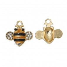 Bee Charm with Rhinestone Wings