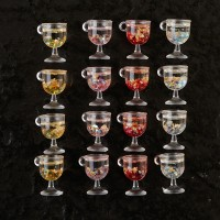 Gold Foil Wine Glass Charm Pack - 16 Charms