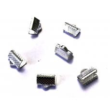 10mm Ribbon Ends – Silver Tone