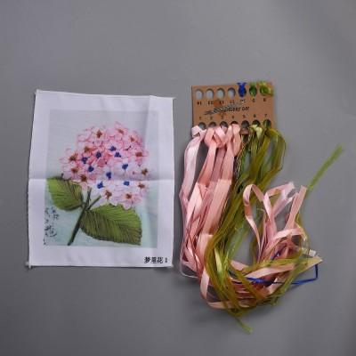3D Pink And Blue, Oxford Silk Ribbon Kit