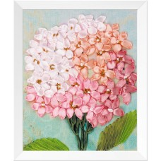 3D Pink Flower  Pattern, Oxford Silk Ribbon Kit