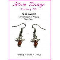 Christmas Angel Earring Kit - Silver Tone