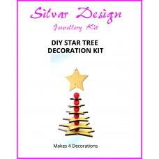 DIY Star Tree Decoration - Makes 4