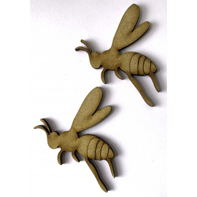 MDF Bee Embellishments (2 Pack)