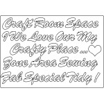 MDF Embellishments - Craft Room Words