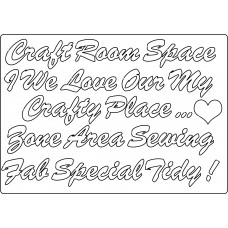 MDF Embellishments - Craft Room Words