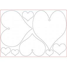 MDF Plaques - Hearts