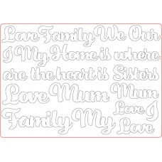 MDF Embellishments - Love Words