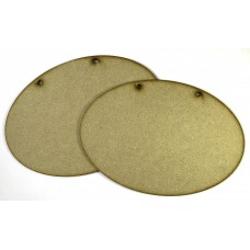 MDF Plaque - Large Oval (2 Pack)
