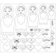 MDF Embellishments - Russian Dolls