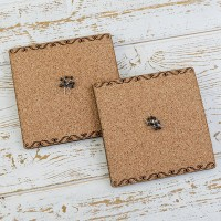 6mm Cork Board Inlay with 10 Push Pins - Pack of 2