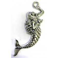 Mermaid Pendant/ Feature Charm – Silver Tone