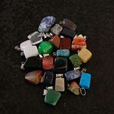 Stone Pendants - 24 Pack with Bails
